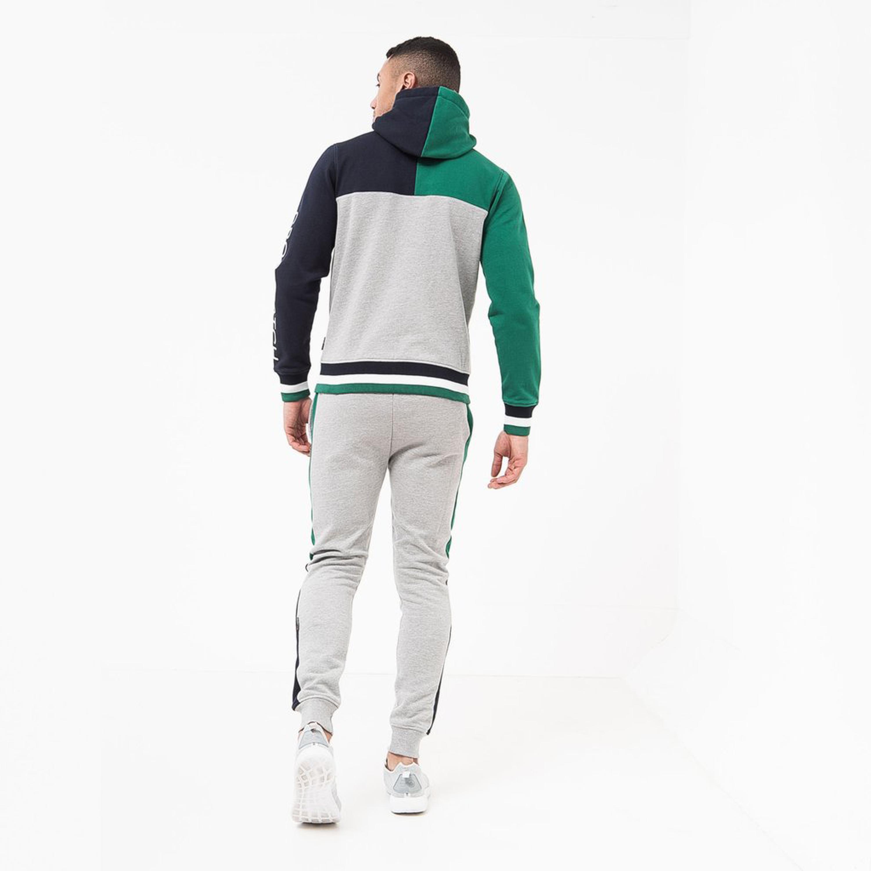 Mens-Sweatshirt-Crosshatch-Over-The-Head-Hoodie-Printed-Zip-Top-Fleece-Lined-New thumbnail 12
