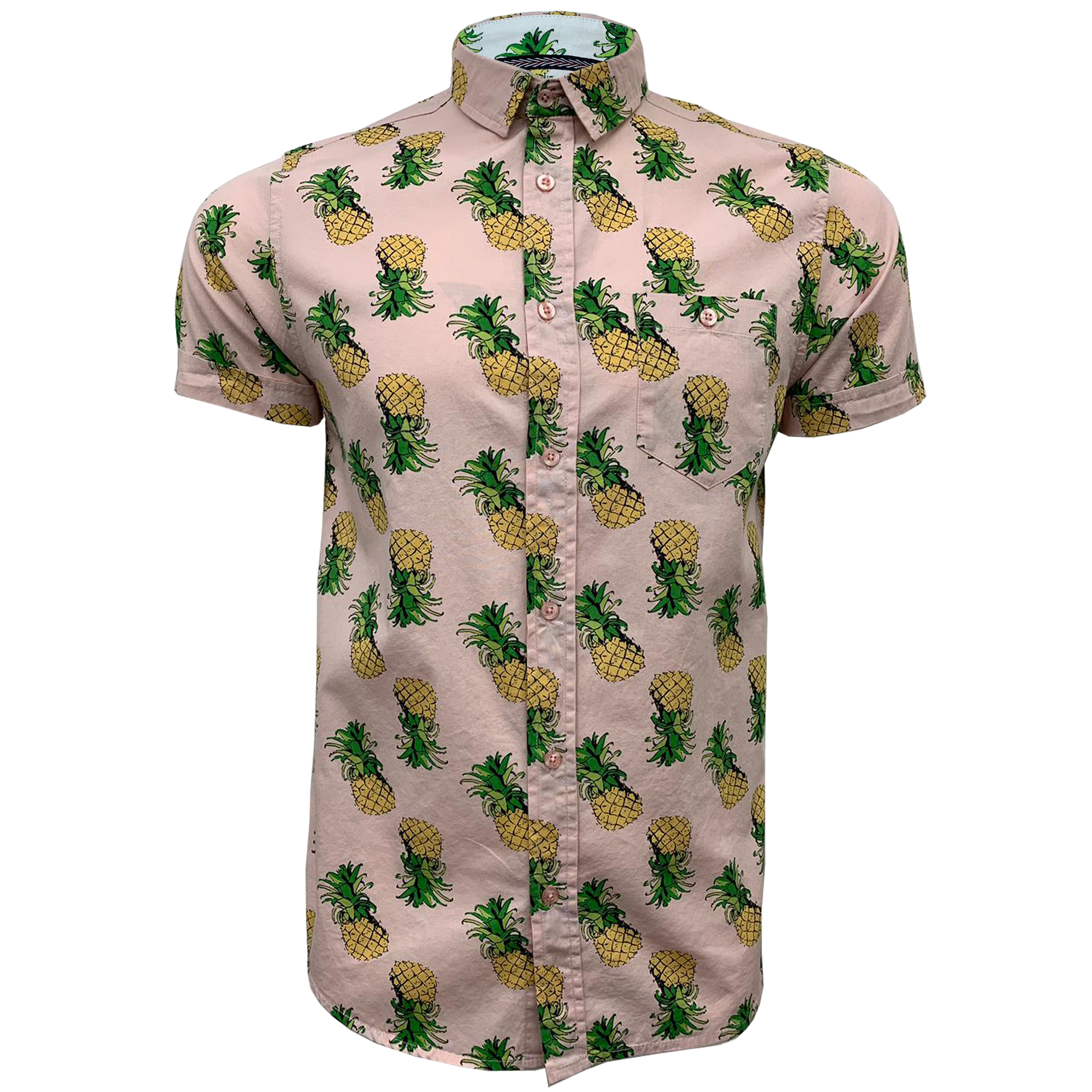 Mens-Cotton-Shirt-Brave-Soul-Pineapple-Can-Printed-Short-Sleeved-Casual-Summer thumbnail 8