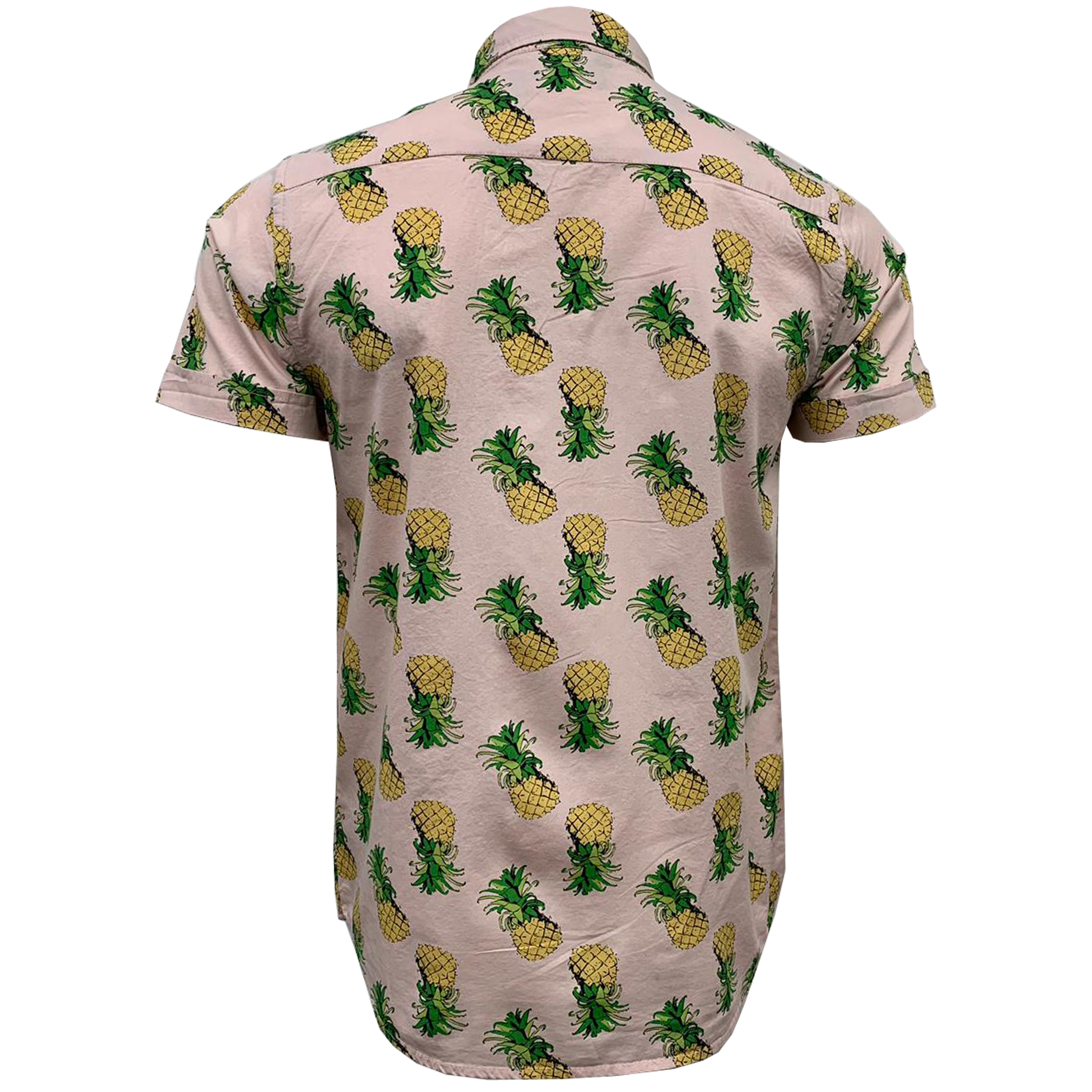 Mens-Cotton-Shirt-Brave-Soul-Pineapple-Can-Printed-Short-Sleeved-Casual-Summer thumbnail 9