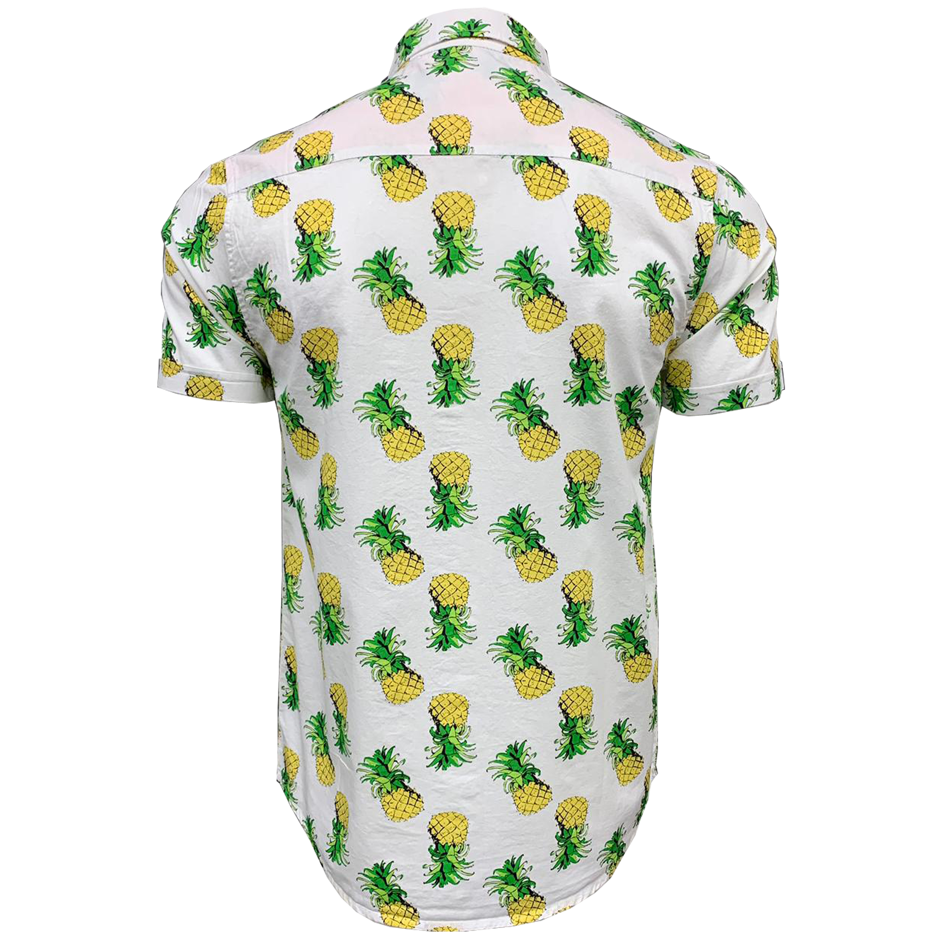 Mens-Cotton-Shirt-Brave-Soul-Pineapple-Can-Printed-Short-Sleeved-Casual-Summer thumbnail 6