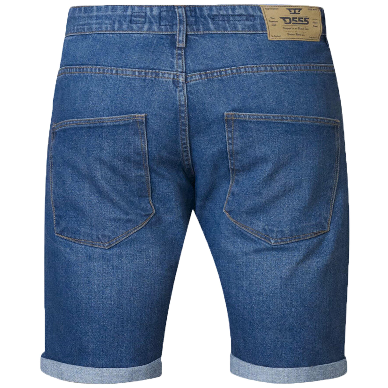 Mens Duke Denim Shorts D555 Big Regular Size Stretch Knee Length Roll Up Vintage