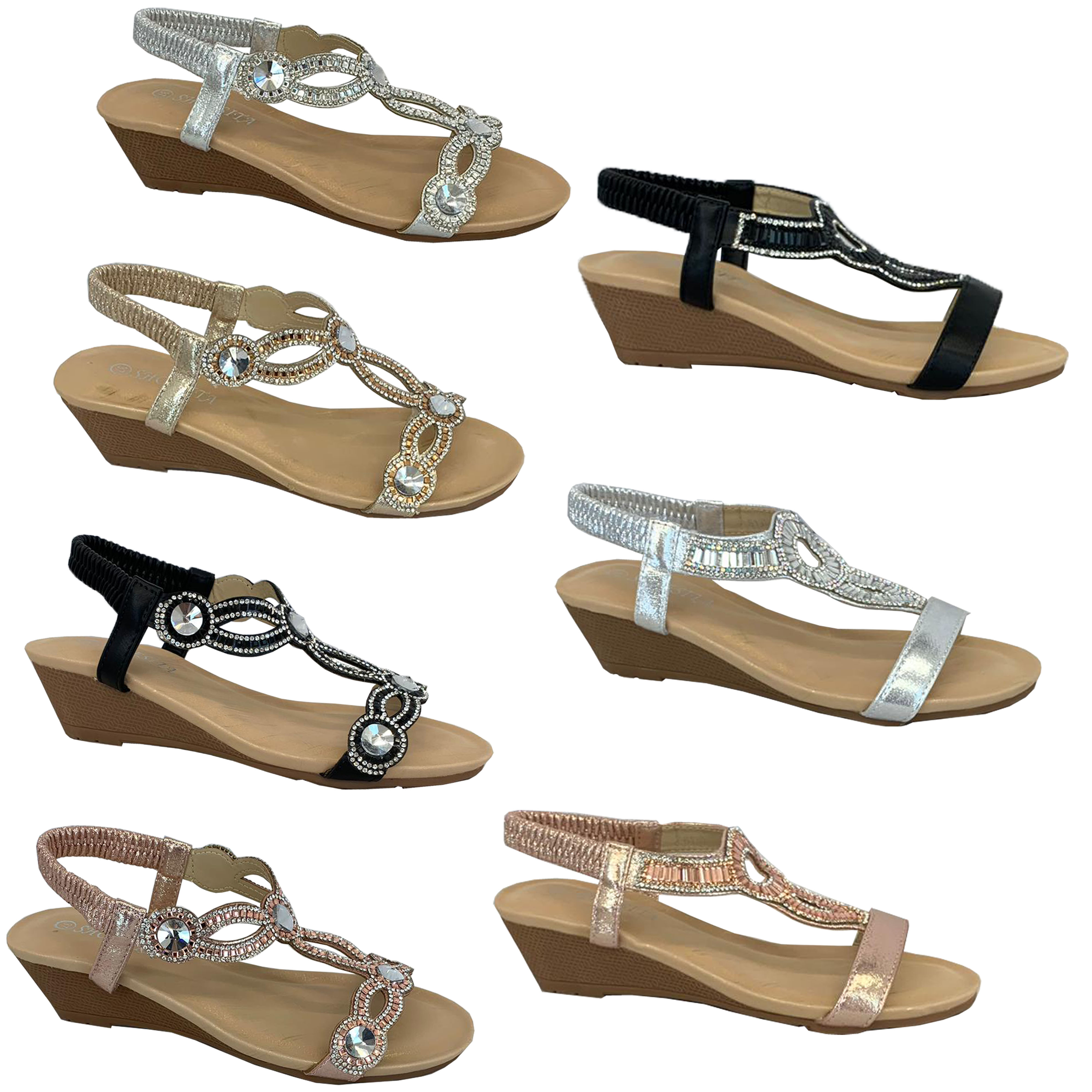 Sehr Keilabsatz Leder Sandalen Damen Nieten Riemen Plateau Sommer Pumps Alltag