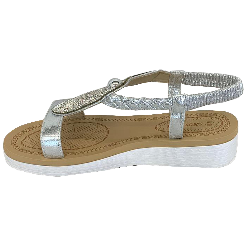 Ladies-Sandals-Womens-Diamante-Sling-Back-Open-Toe-Shoes-Fashion-Summer-New thumbnail 22
