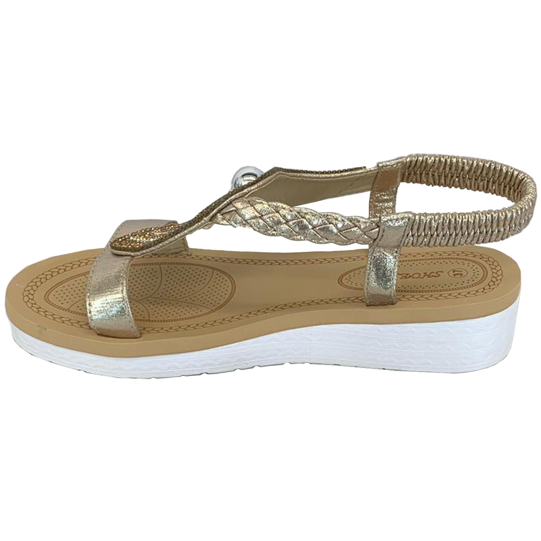 Ladies-Sandals-Womens-Diamante-Sling-Back-Open-Toe-Shoes-Fashion-Summer-New thumbnail 14