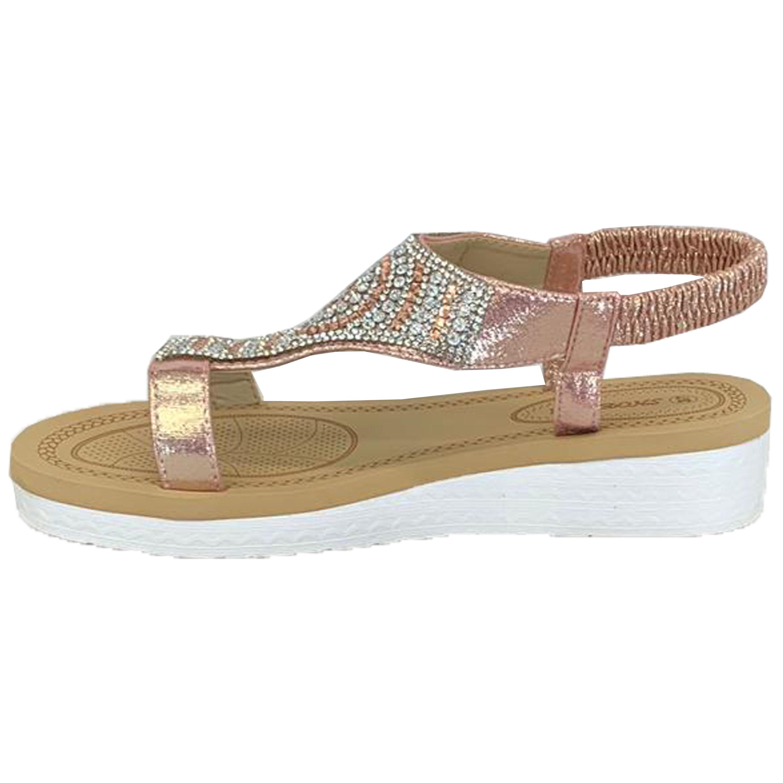 Ladies-Sandals-Womens-Diamante-Sling-Back-Open-Toe-Shoes-Fashion-Summer-New thumbnail 11
