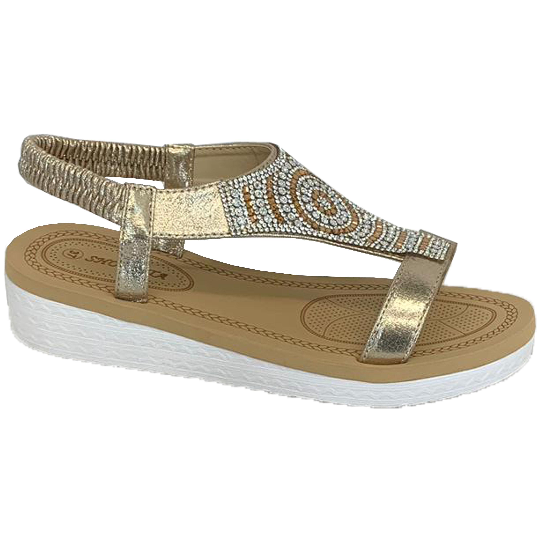 Ladies-Sandals-Womens-Diamante-Sling-Back-Open-Toe-Shoes-Fashion-Summer-New thumbnail 17