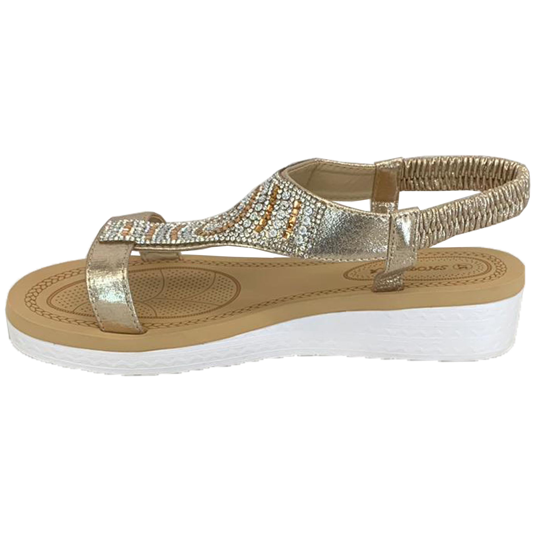 Ladies-Sandals-Womens-Diamante-Sling-Back-Open-Toe-Shoes-Fashion-Summer-New thumbnail 18