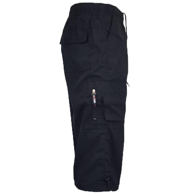 Mens-Combat-Cargo-Shorts-3-4-Length-Plain-Sport-Fashion-Casual-Summer-New thumbnail 3