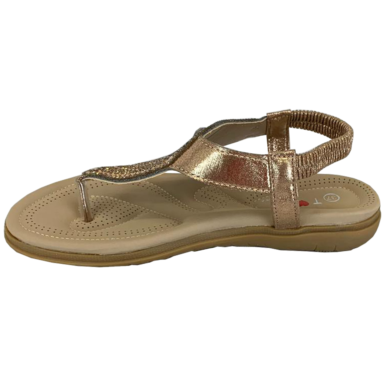 Ladies-Flat-Sandals-Womens-Diamante-Sling-Back-Toe-Post-Shoes-Summer-Fashion-New thumbnail 6