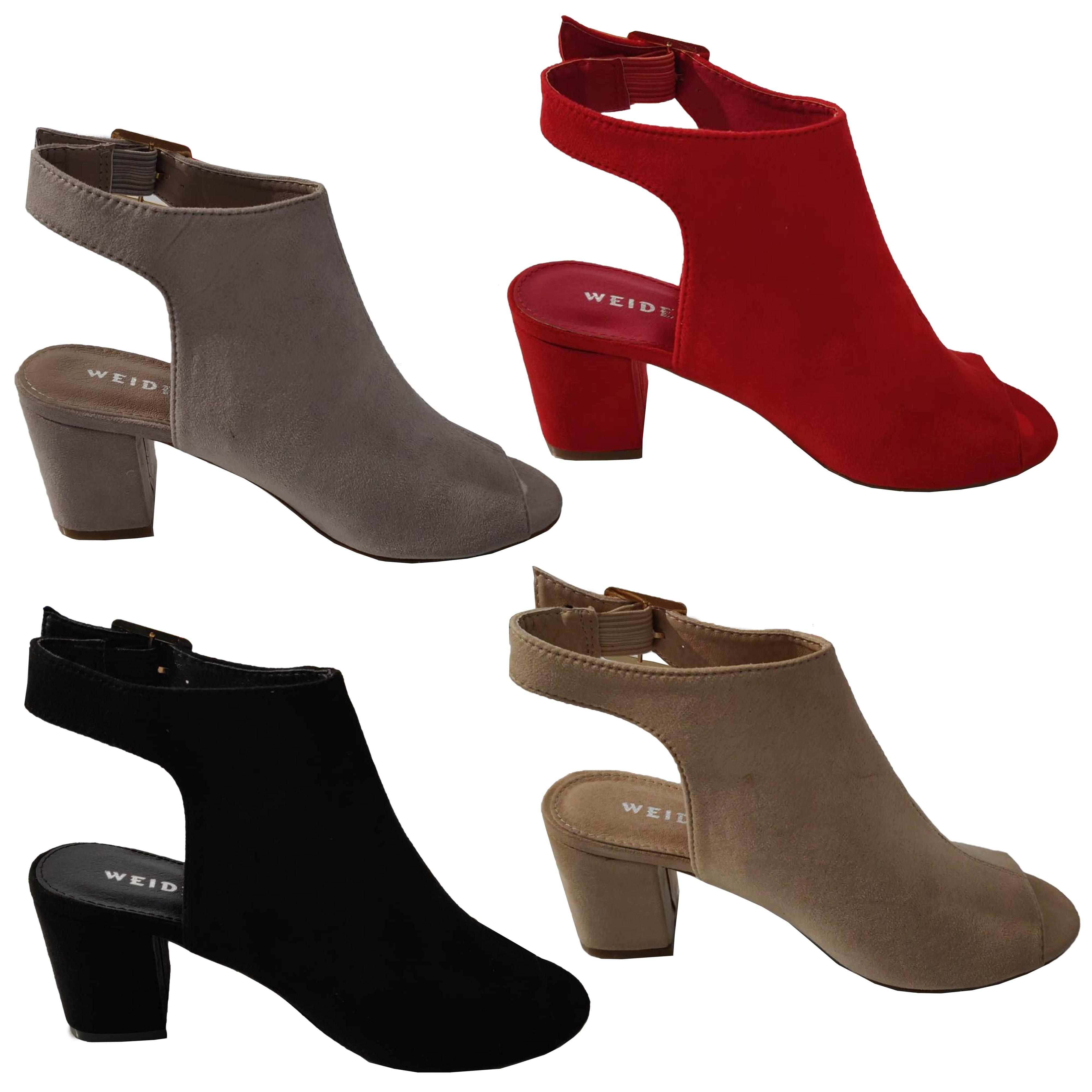 cb55b975 Mujer Zapatos sin Talón Sandalias ante Tacón en Bloque Peep Toe ...