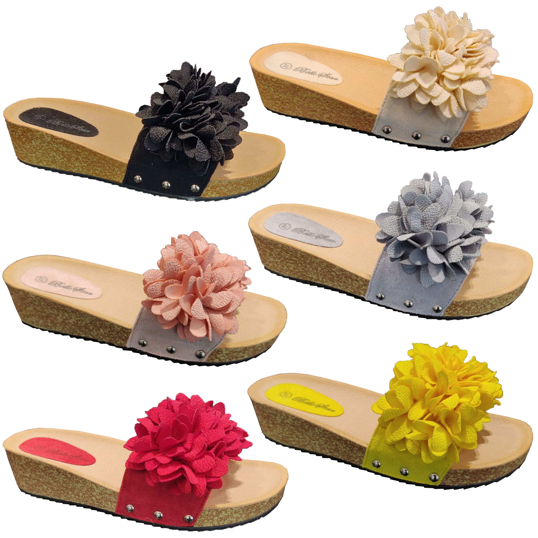 cheap for sale 100% genuine huge discount Details about Ladies Mule Sandals Slip On Womens Slippers Flower Flip Flops  Sliders Fashion