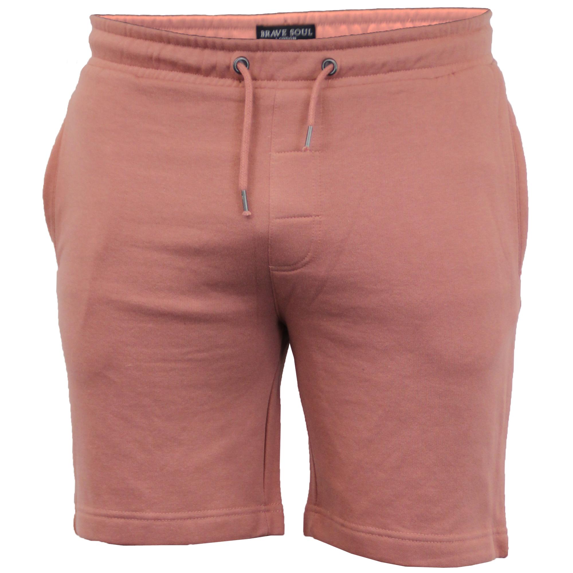 Mens-Jogger-Shorts-Tarley-by-Brave-Soul-Knee-Length-Casual-Fleece-Lined-Summer thumbnail 32