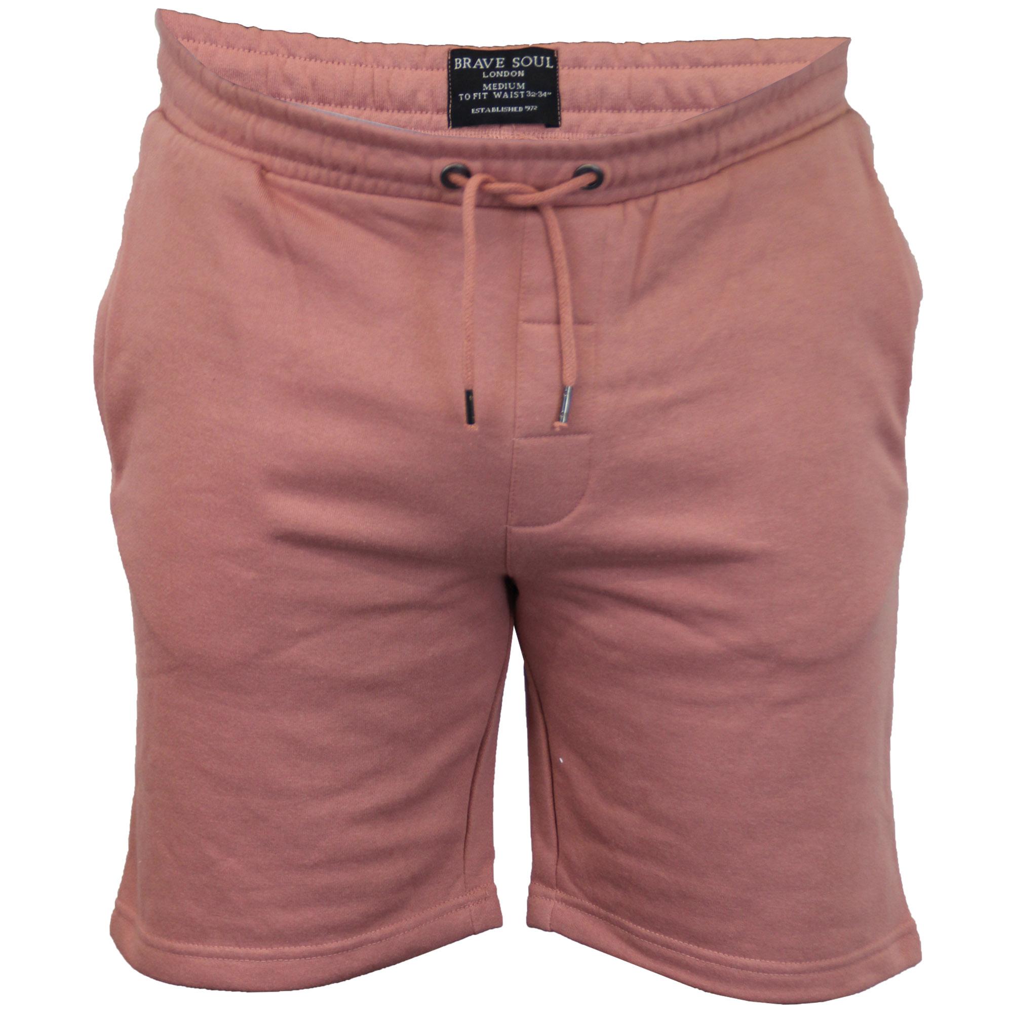 Mens-Jogger-Shorts-Tarley-by-Brave-Soul-Knee-Length-Casual-Fleece-Lined-Summer thumbnail 45