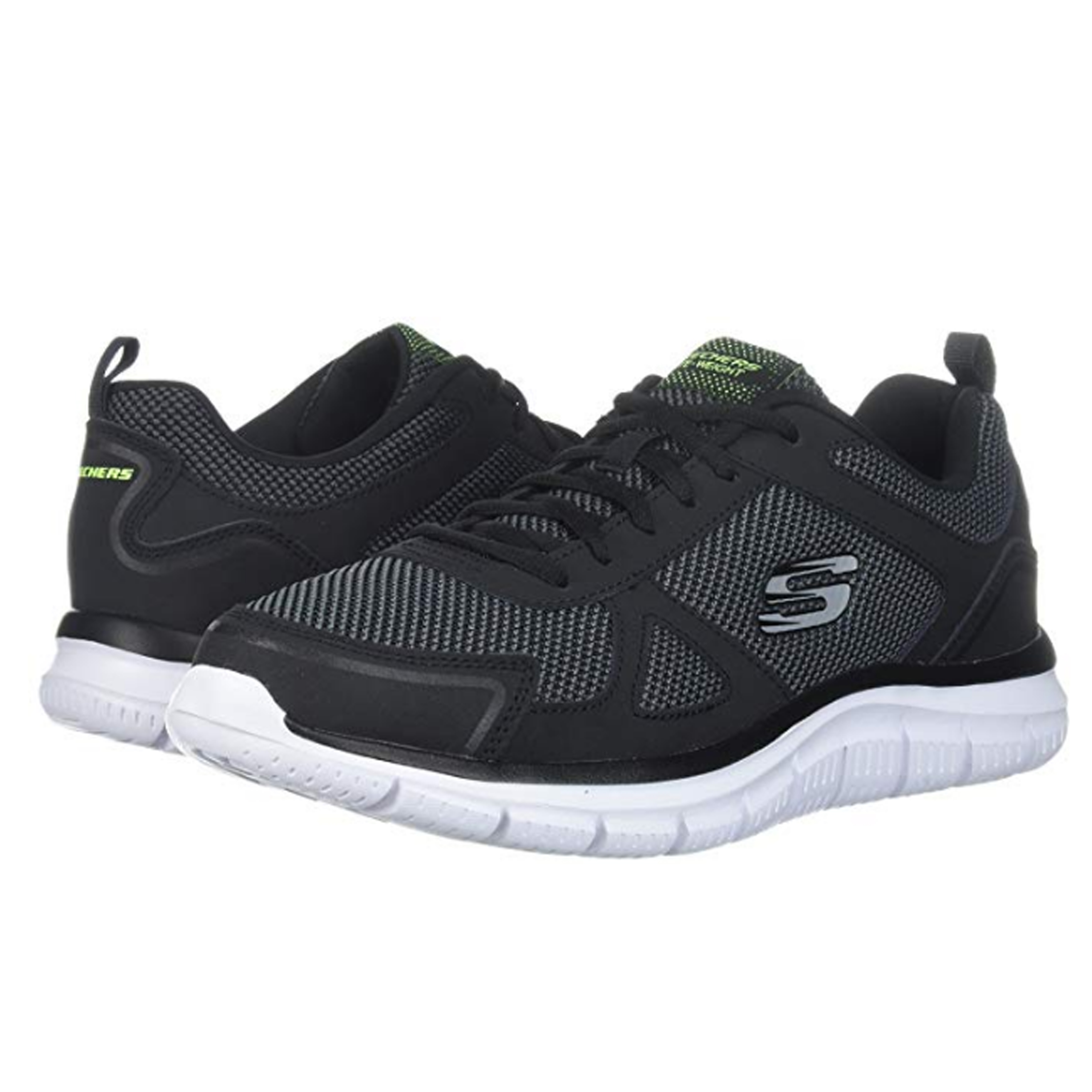 Details about Mens Skechers Track Bucolo Lace Up Gym Memory Foam Sport Trainers 52630 Fashion