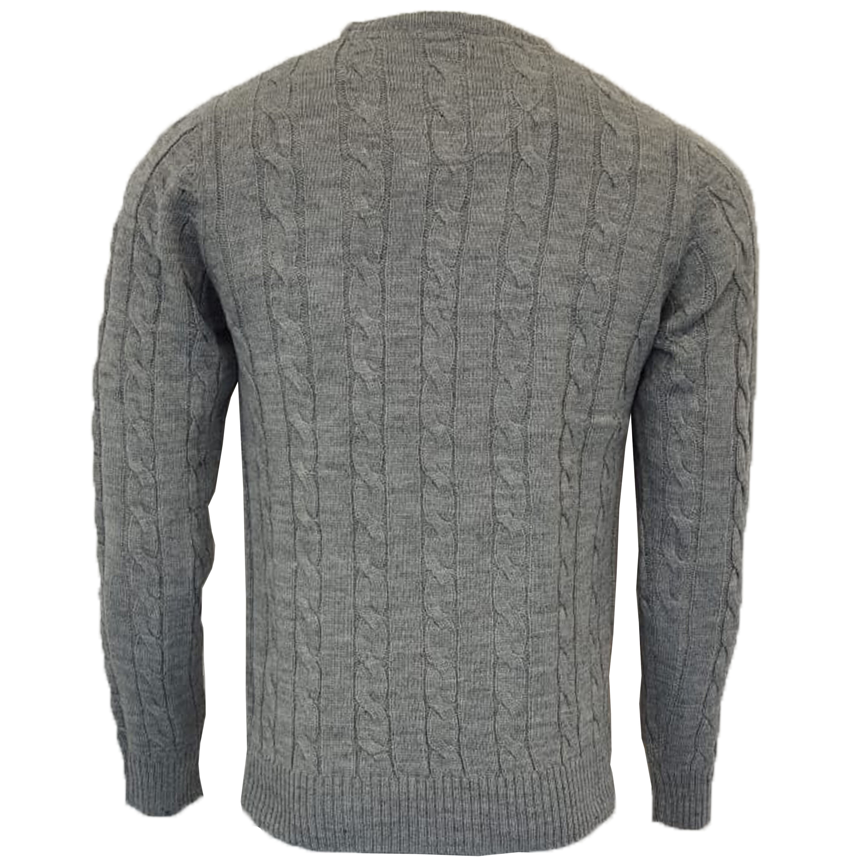Mens-Wool-Mix-Jumper-Brave-Soul-Chunky-Knitted-Pullover-Sweater-Top-MAOISM-New thumbnail 3