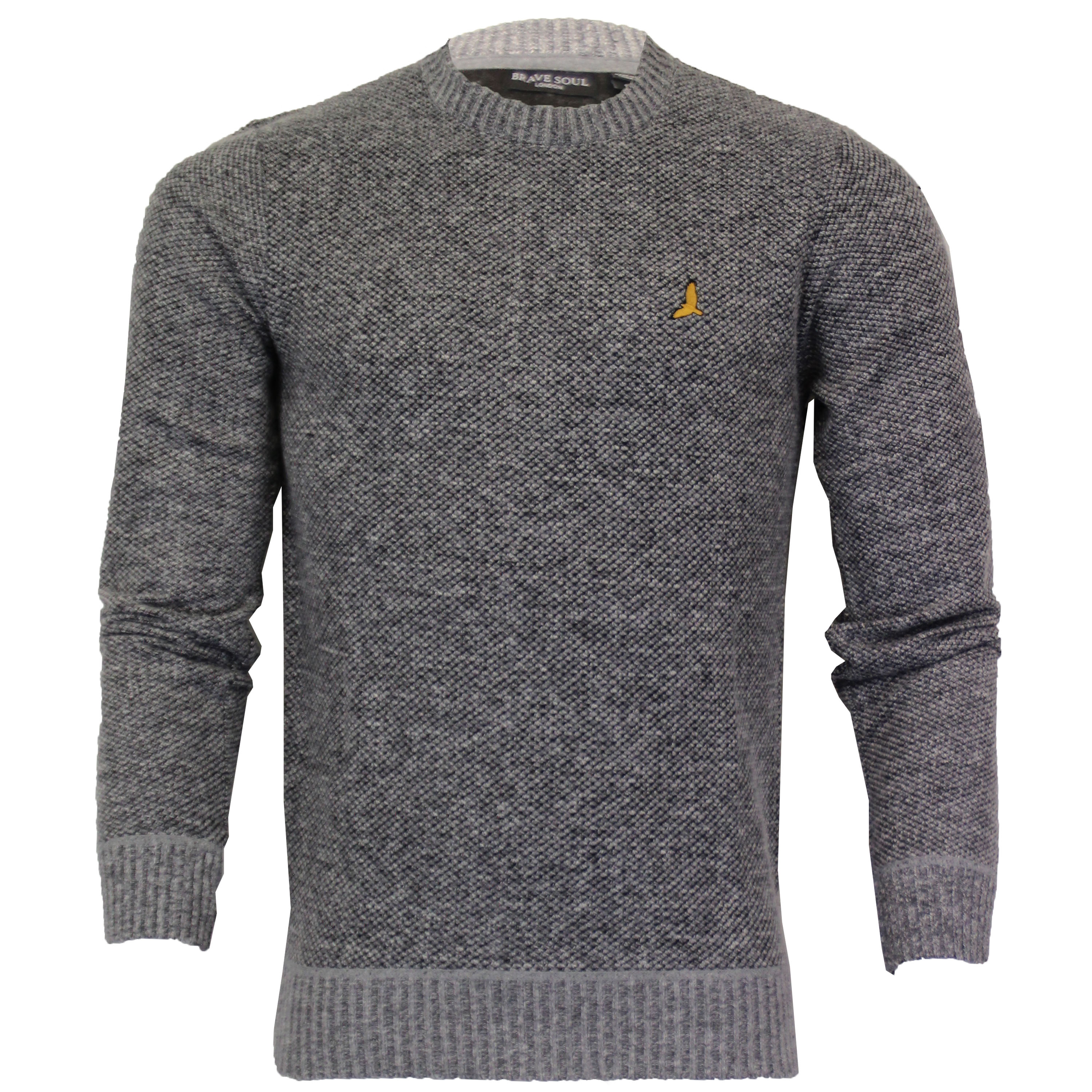 Mens-Jumper-Brave-Soul-Knitted-Sweater-Pullover-GOODWIN-Crew-Neck-Top-Winter-New thumbnail 8
