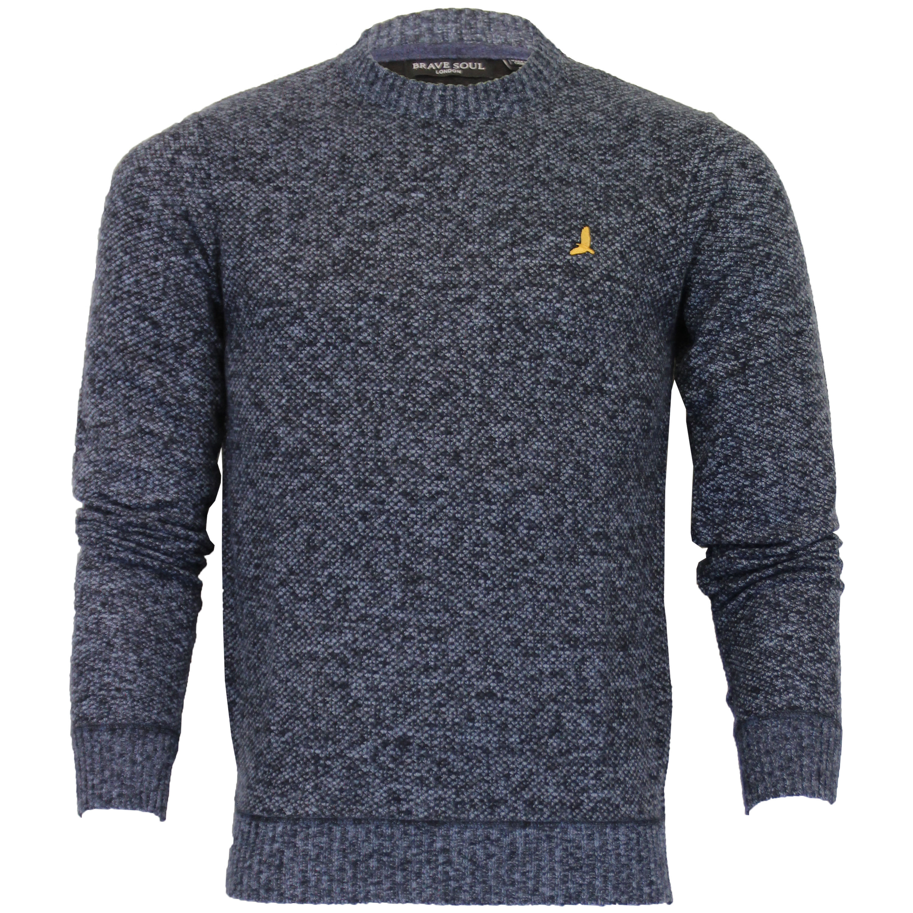 Mens-Jumper-Brave-Soul-Knitted-Sweater-Pullover-GOODWIN-Crew-Neck-Top-Winter-New thumbnail 14