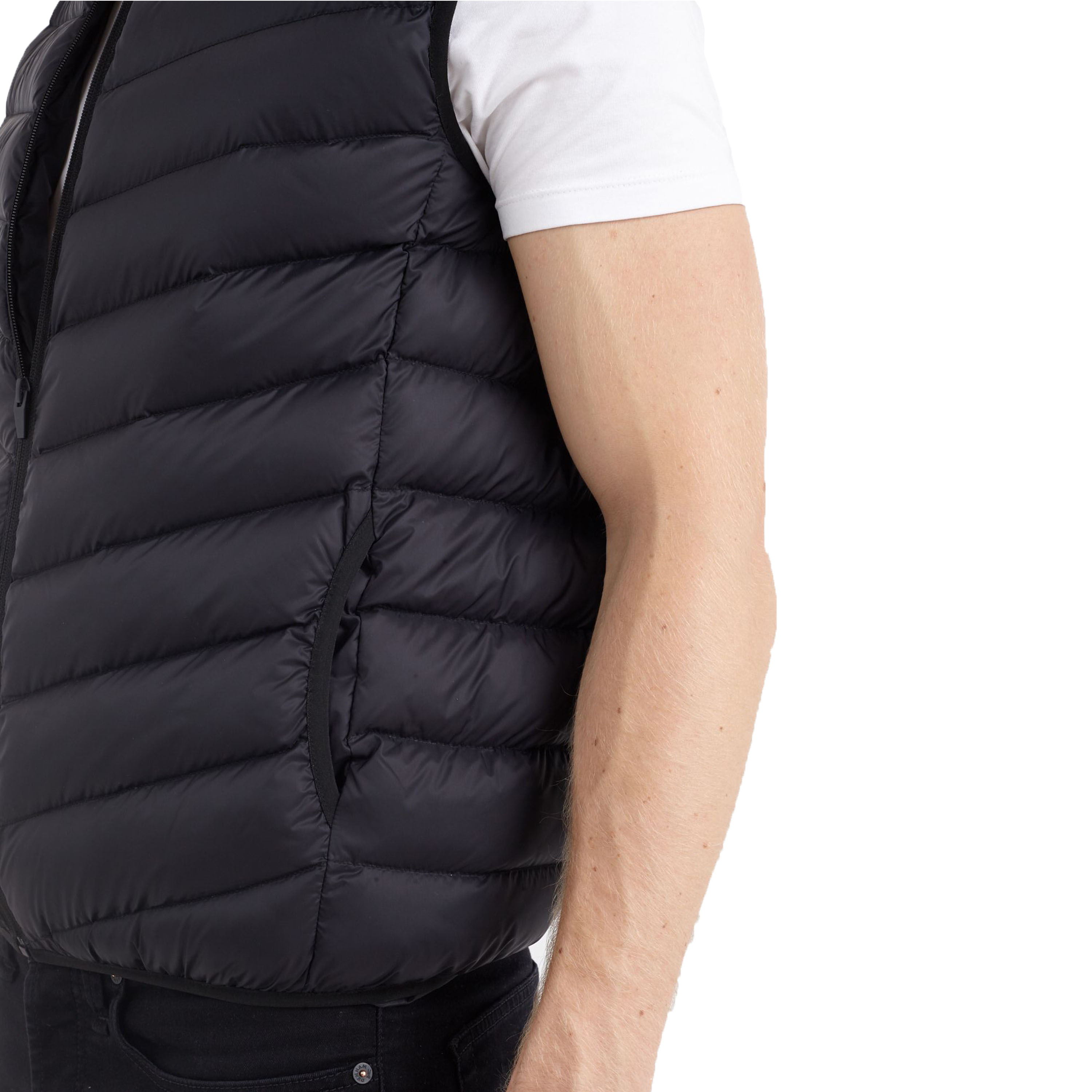 Mens Gilet Brave Soul Bodywarmer Camo Military Hooded Padded Quilted Funnel Neck