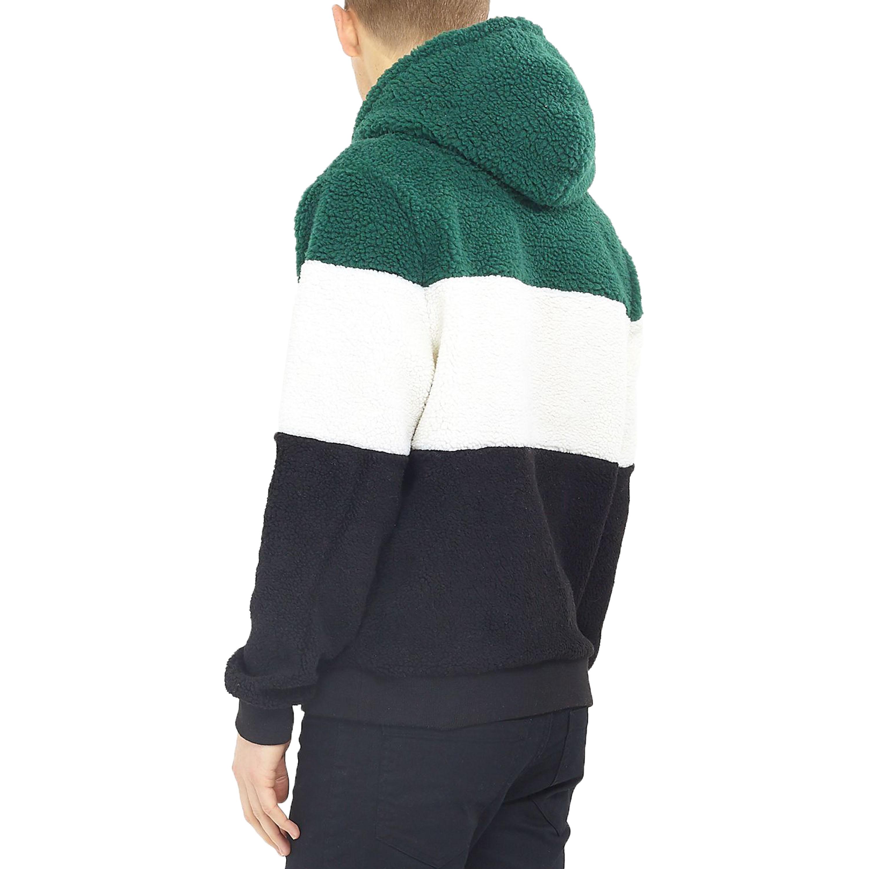 Mens-Sherpa-Fleece-Borg-Sweatshirt-Brave-Soul-Over-The-Head-Hooded-Top-Block-New thumbnail 3