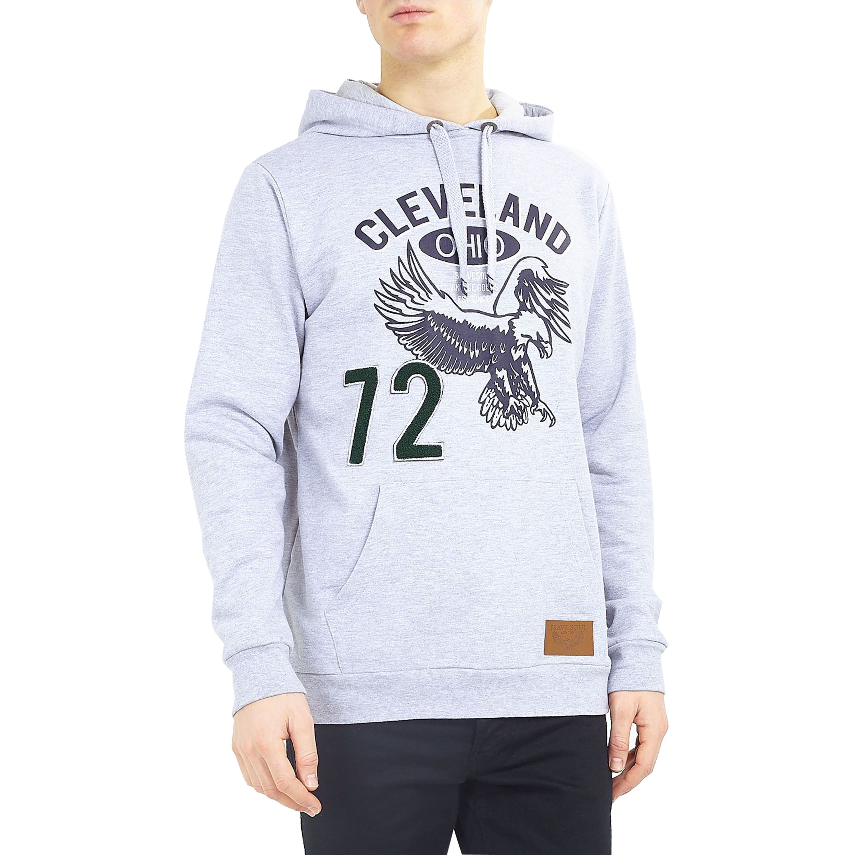 Mens-Sweatshirt-Brave-Soul-Over-The-Head-Hoodie-OHIO-Pullover-Top-CLEVELAND-New thumbnail 6