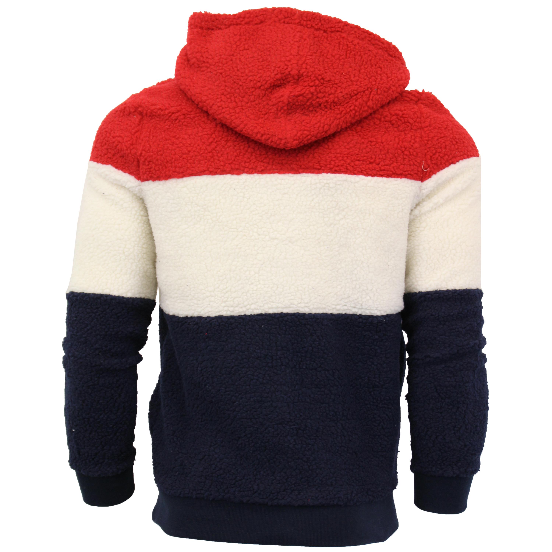 Mens-Sherpa-Fleece-Borg-Sweatshirt-Brave-Soul-Over-The-Head-Hooded-Top-Block-New thumbnail 7