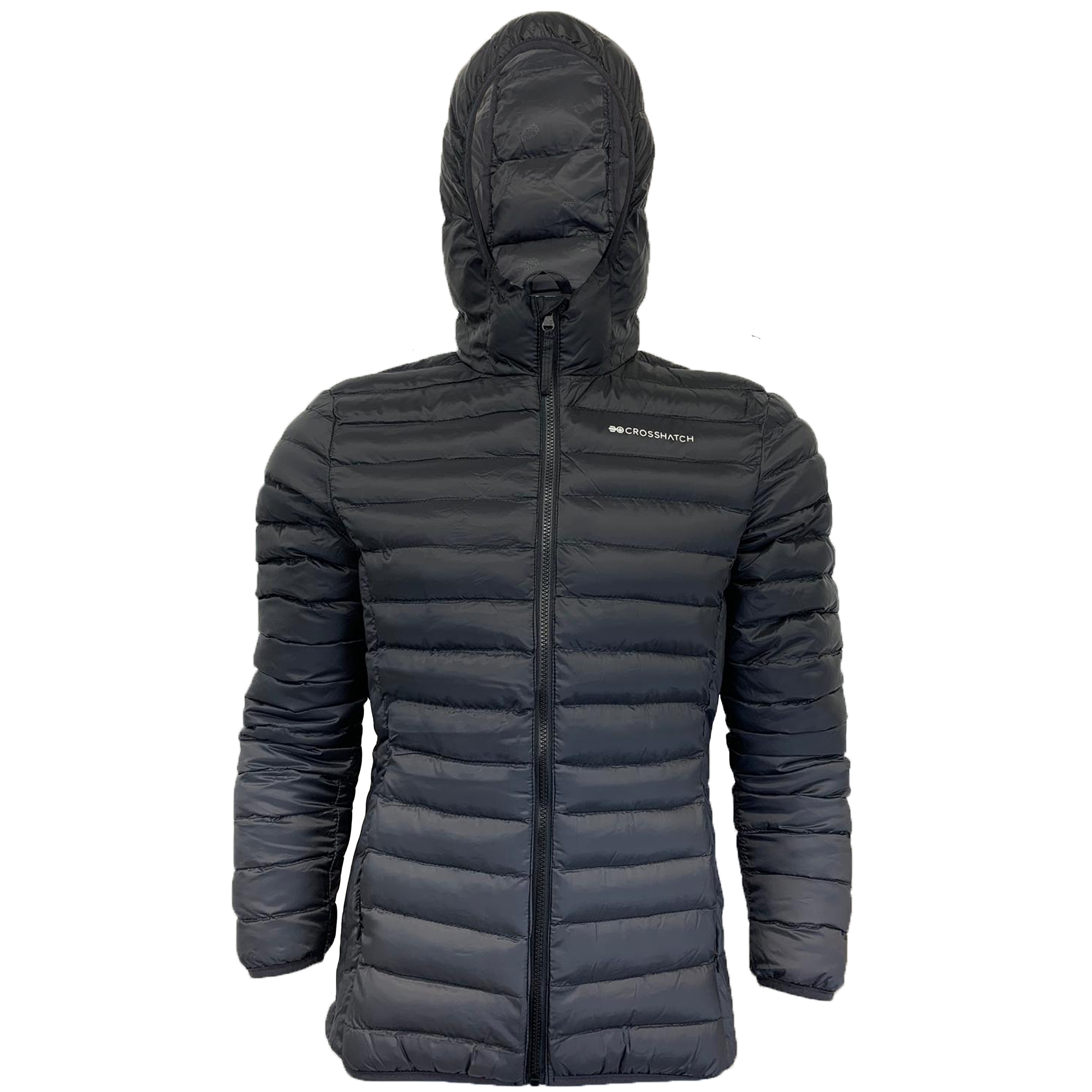 Mens-Jacket-Crosshatch-Hooded-Padded-Quilted-Two-Tone-FADEDOWN-Lined-Winter-New thumbnail 3