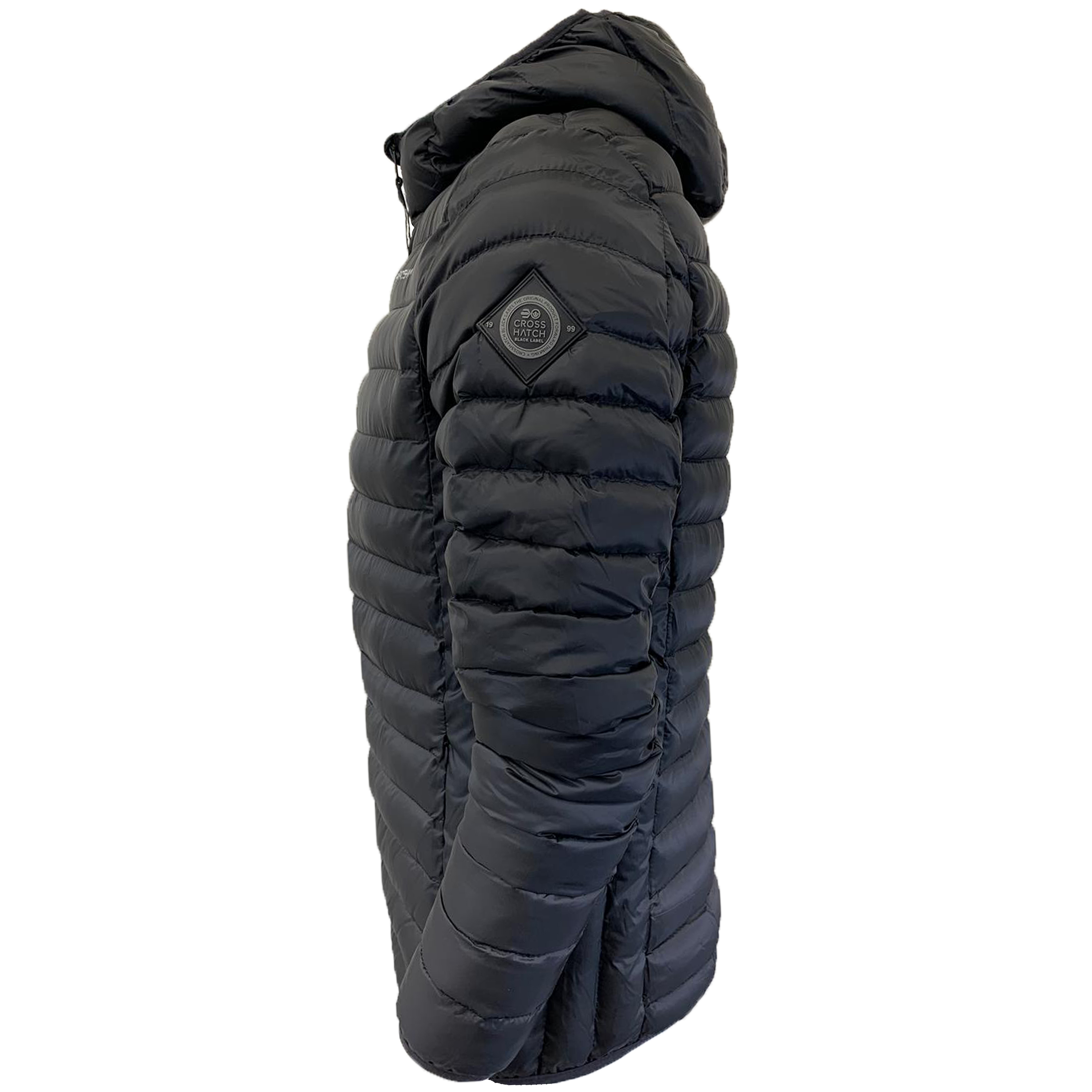 Mens-Jacket-Crosshatch-Hooded-Padded-Quilted-Two-Tone-FADEDOWN-Lined-Winter-New thumbnail 4