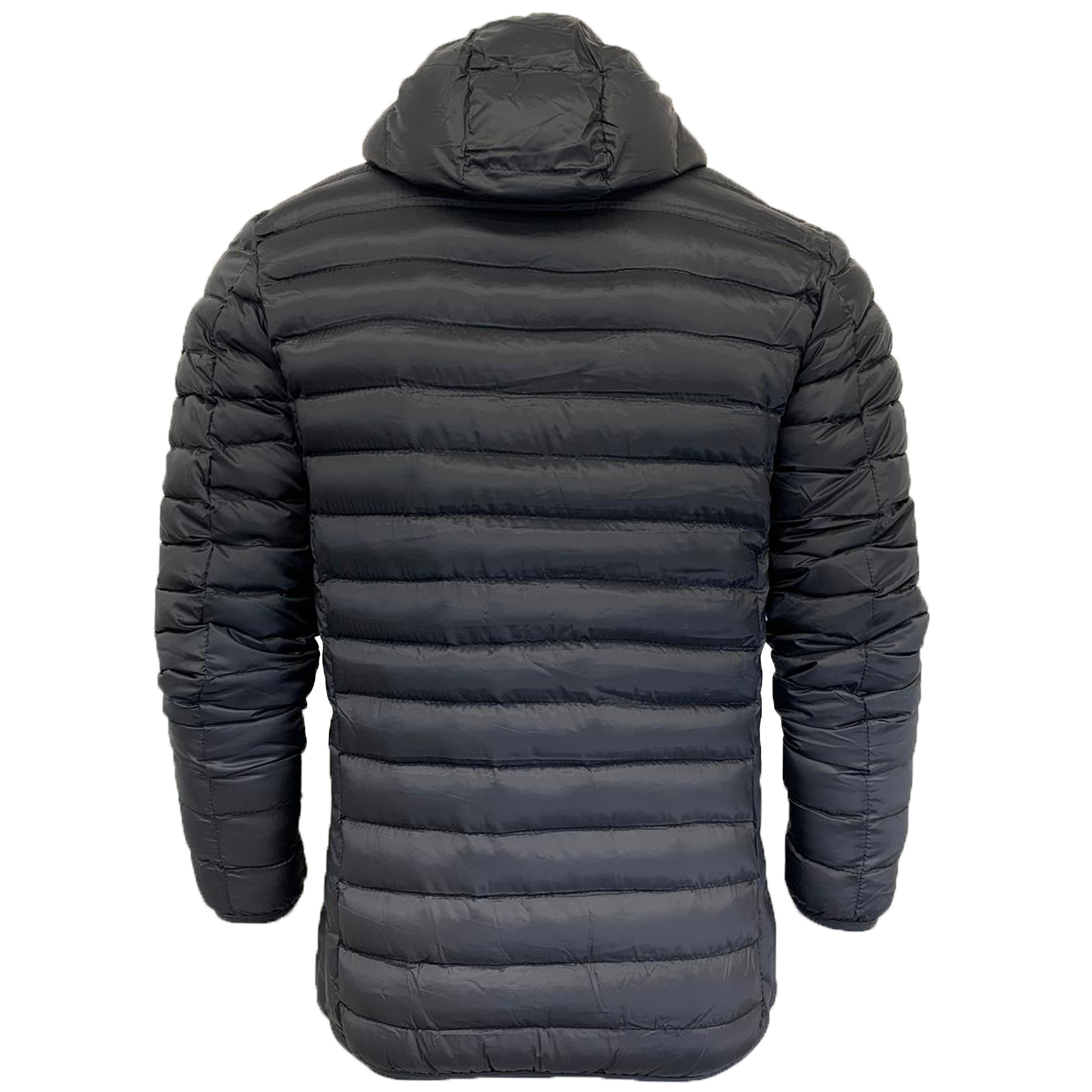 Mens-Jacket-Crosshatch-Hooded-Padded-Quilted-Two-Tone-FADEDOWN-Lined-Winter-New thumbnail 5