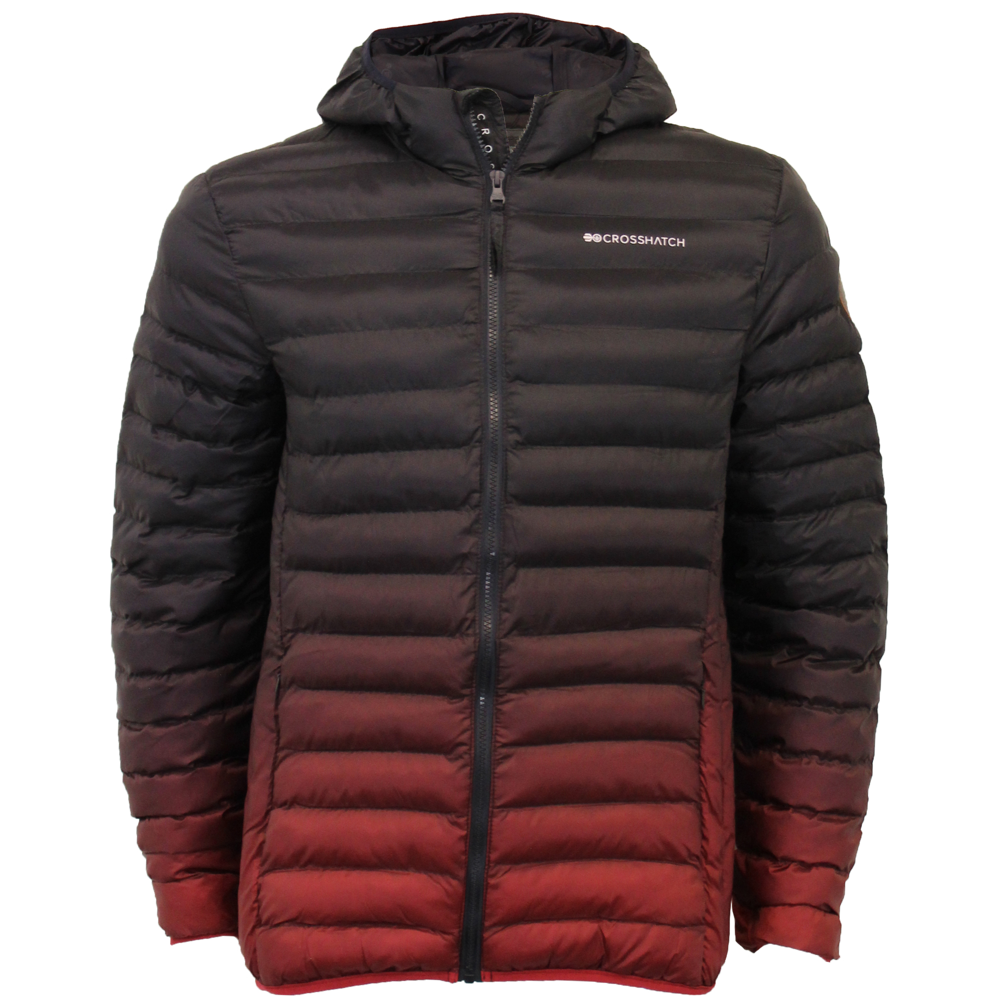 Mens-Jacket-Crosshatch-Hooded-Padded-Quilted-Two-Tone-FADEDOWN-Lined-Winter-New thumbnail 7