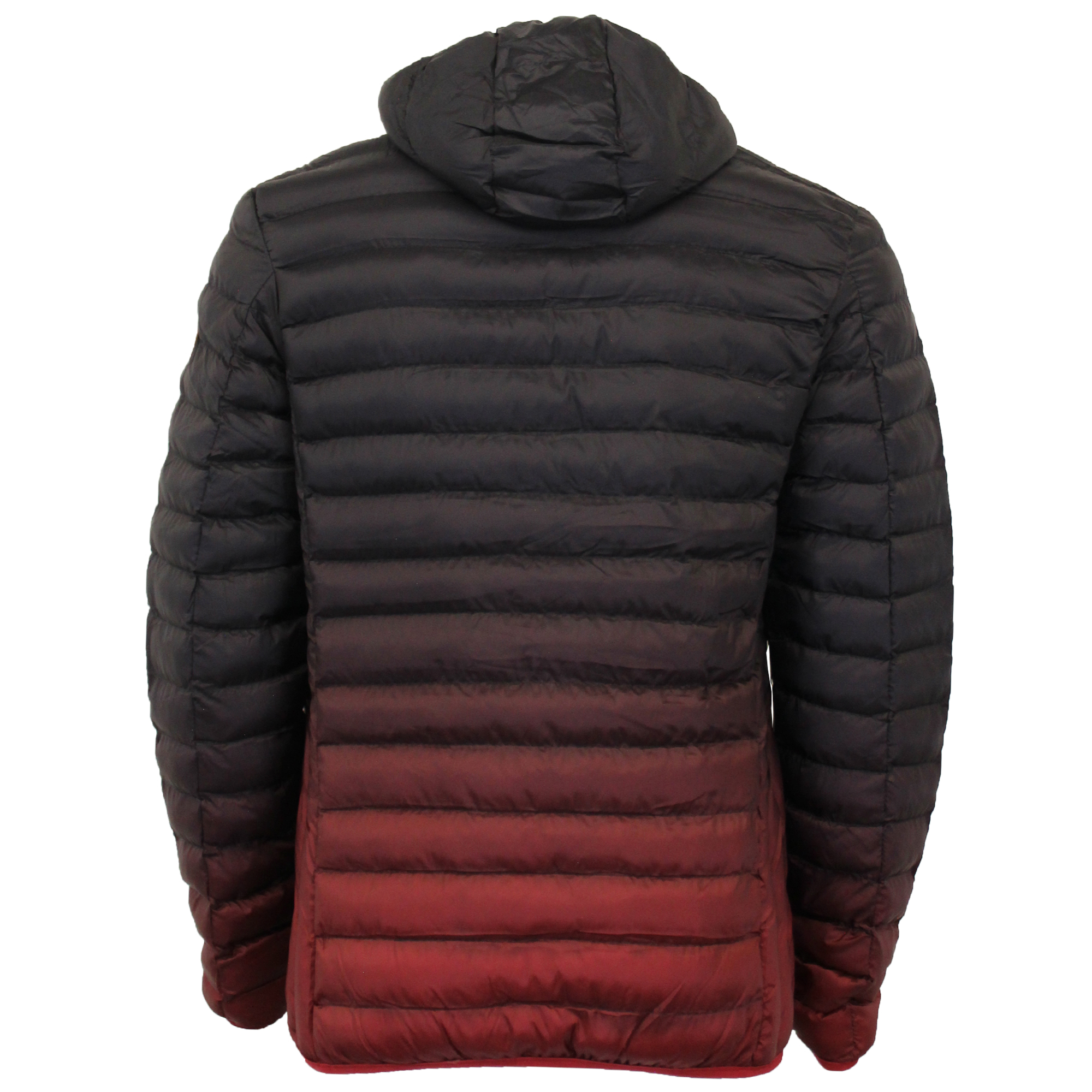 Mens-Jacket-Crosshatch-Hooded-Padded-Quilted-Two-Tone-FADEDOWN-Lined-Winter-New thumbnail 9