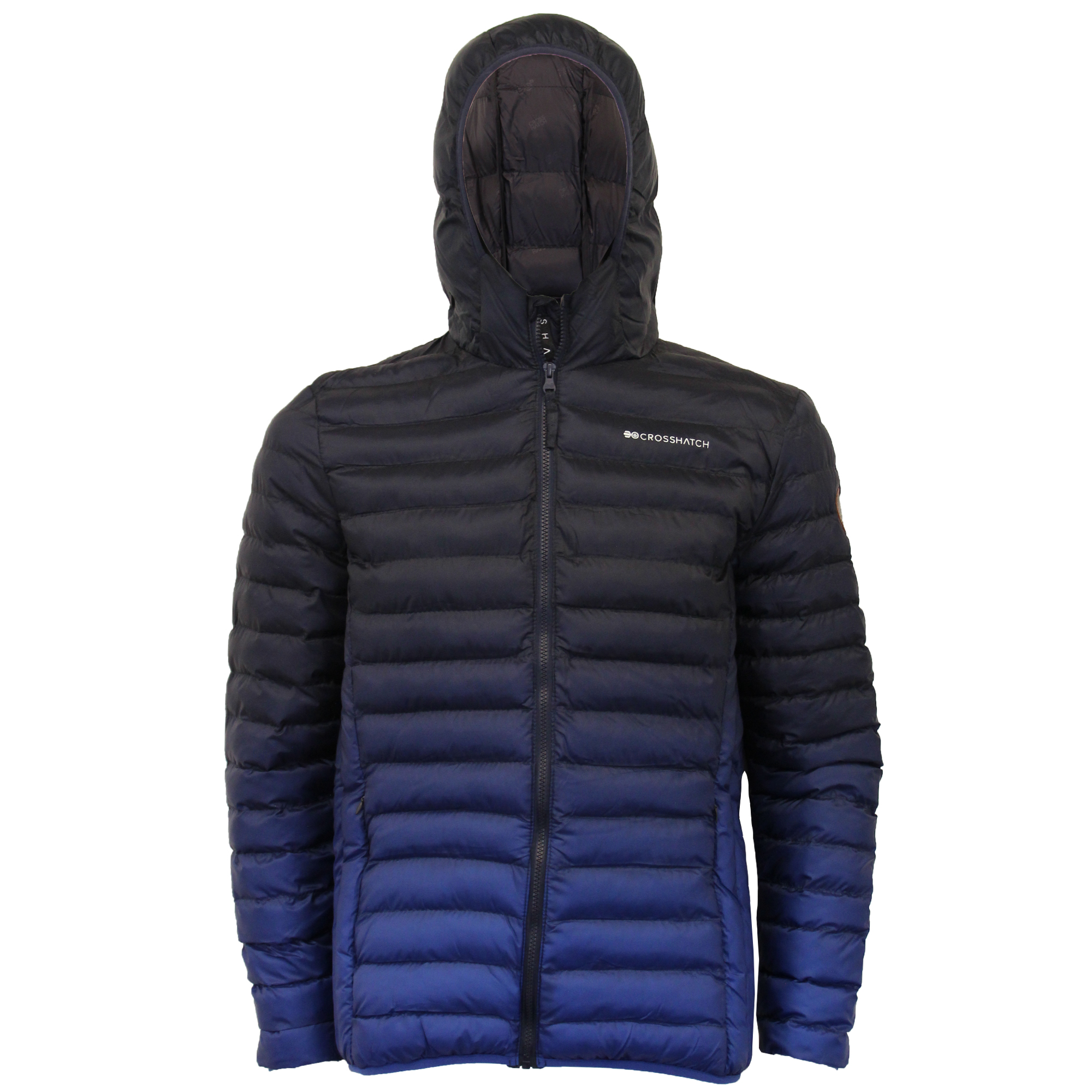 Mens-Jacket-Crosshatch-Hooded-Padded-Quilted-Two-Tone-FADEDOWN-Lined-Winter-New thumbnail 16