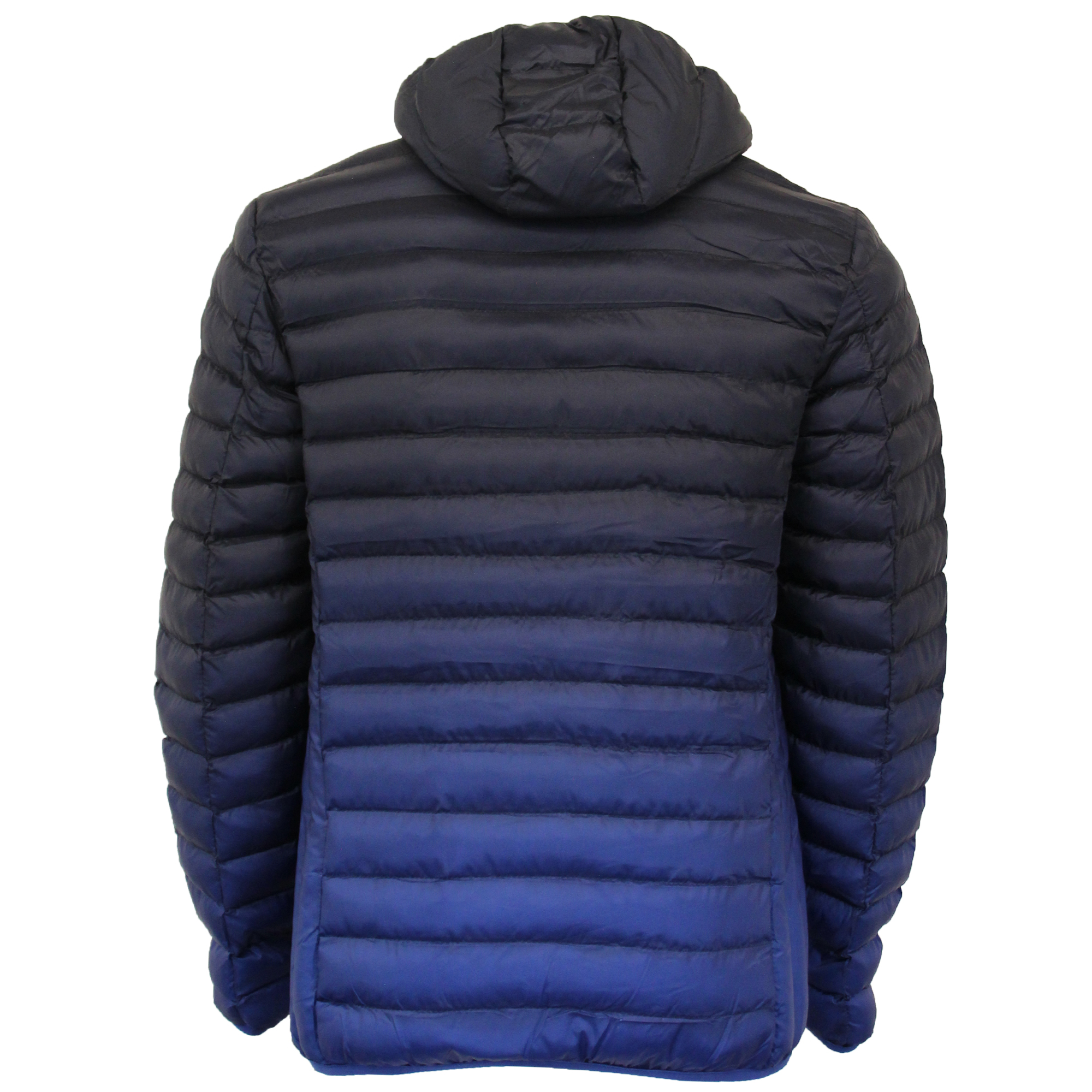 Mens-Jacket-Crosshatch-Hooded-Padded-Quilted-Two-Tone-FADEDOWN-Lined-Winter-New thumbnail 17