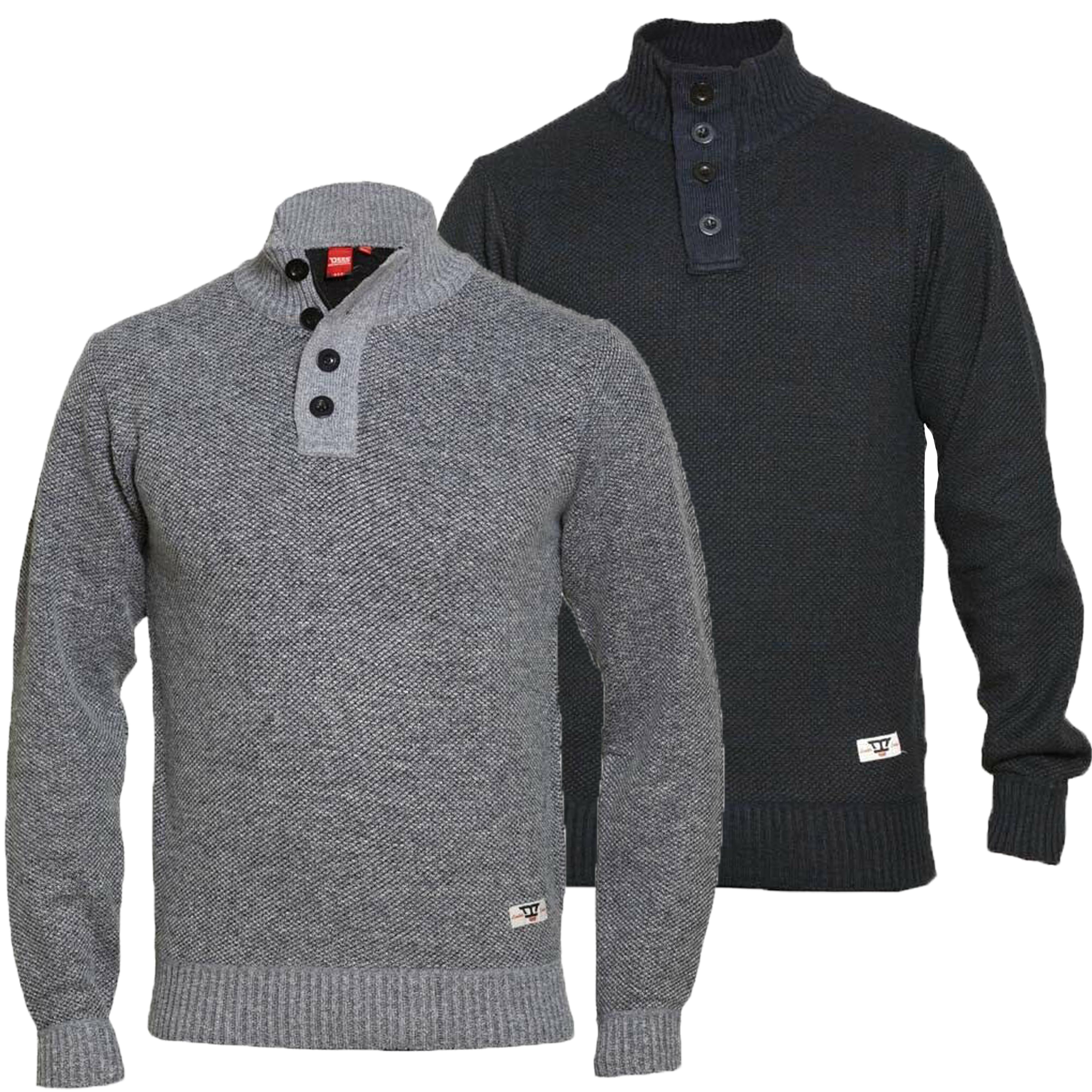Maglione-da-uomo-D555-Duke-Big-King-Size-A-Maglia-Maglione-Pullover-Zip-Top-Inverno-Zane miniatura 4