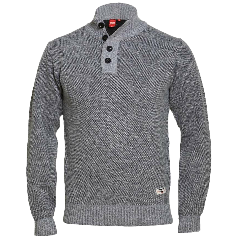 Maglione-da-uomo-D555-Duke-Big-King-Size-A-Maglia-Maglione-Pullover-Zip-Top-Inverno-Zane miniatura 2
