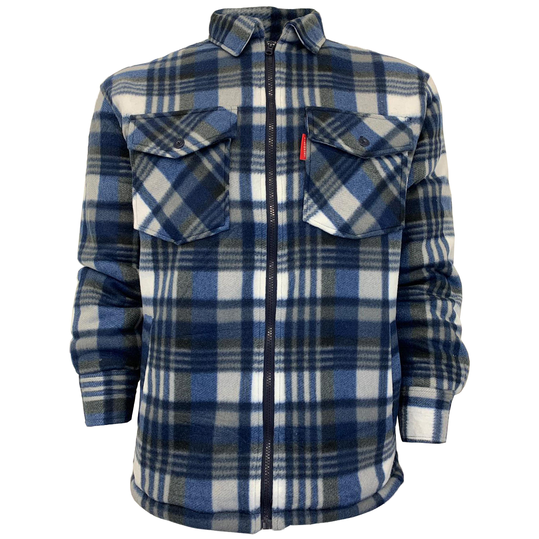 Mens-Sweatshirt-Hooded-Top-Shirt-Lumberjack-Flannel-Jacket-Check-Sherpa-Fleece thumbnail 9