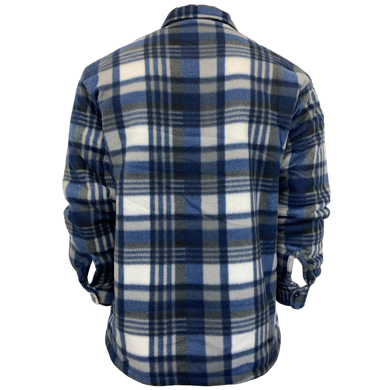 Mens-Sweatshirt-Hooded-Top-Shirt-Lumberjack-Flannel-Jacket-Check-Sherpa-Fleece thumbnail 10