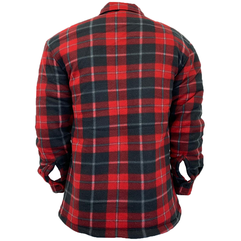 Mens-Sweatshirt-Hooded-Top-Shirt-Lumberjack-Flannel-Jacket-Check-Sherpa-Fleece thumbnail 13