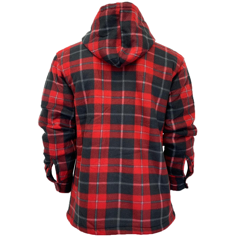 Mens-Sweatshirt-Hooded-Top-Shirt-Lumberjack-Flannel-Jacket-Check-Sherpa-Fleece thumbnail 17