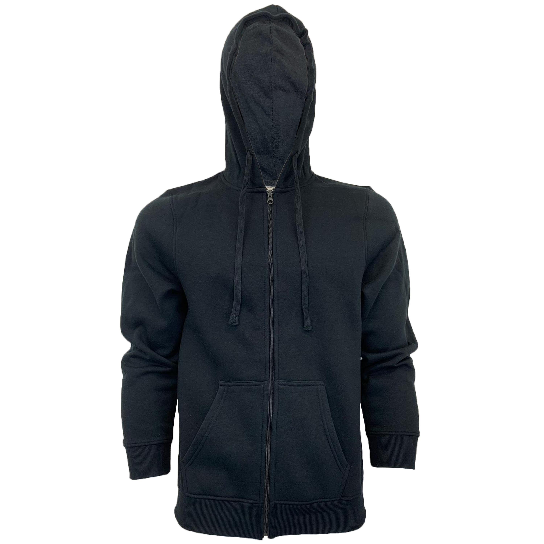 Mens-Sweatshirt-Over-The-Head-Hoodie-Top-Pullover-Zip-Fleece-Fashion-Winter-New thumbnail 7