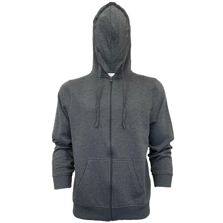 Mens-Sweatshirt-Over-The-Head-Hoodie-Top-Pullover-Zip-Fleece-Fashion-Winter-New thumbnail 14