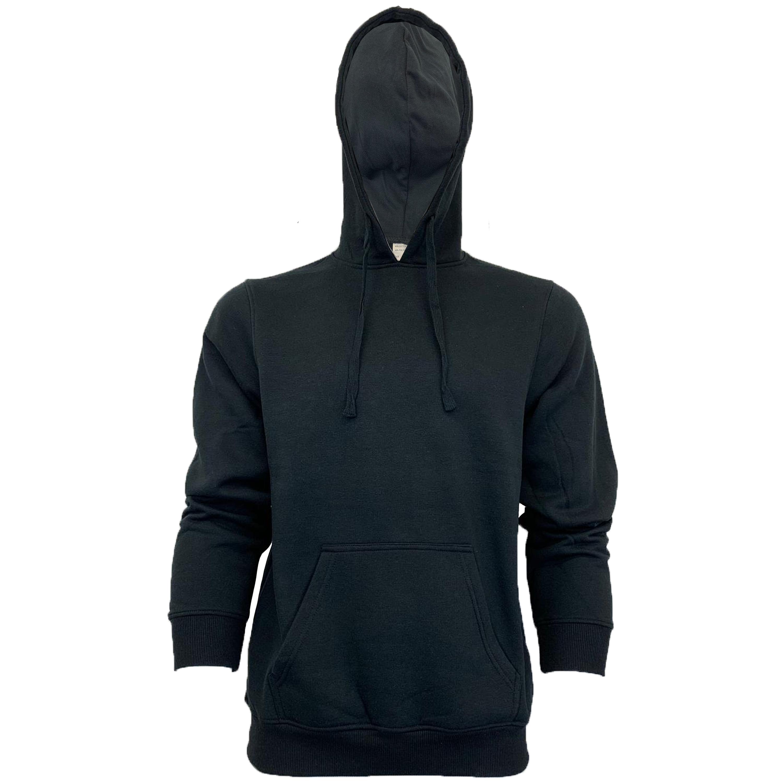 Mens-Sweatshirt-Over-The-Head-Hoodie-Top-Pullover-Zip-Fleece-Fashion-Winter-New thumbnail 3