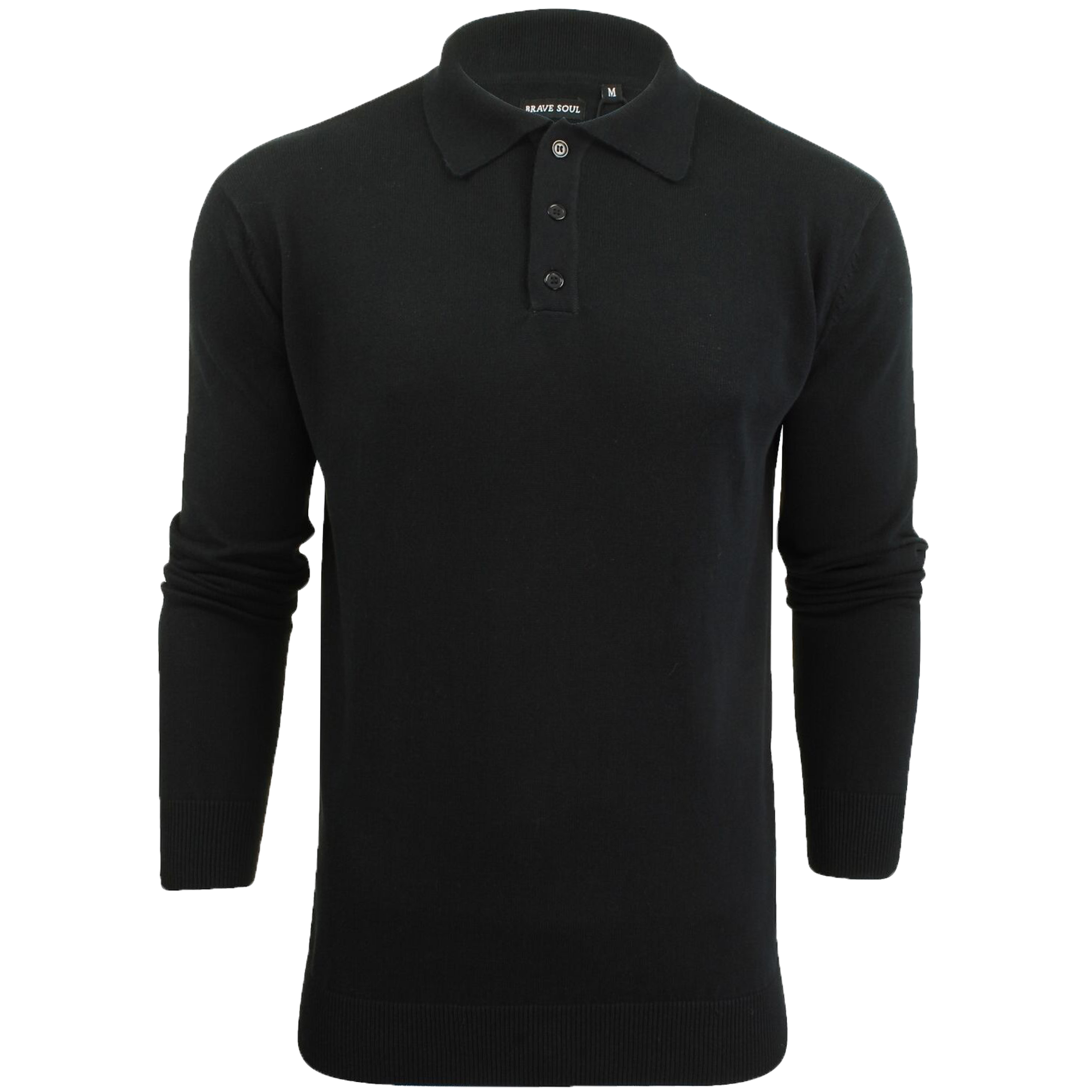 Mens-Knitted-Jumper-Brave-Soul-Polo-Top-Sweater-PLACKET-Pullover-Lightweight-New thumbnail 9