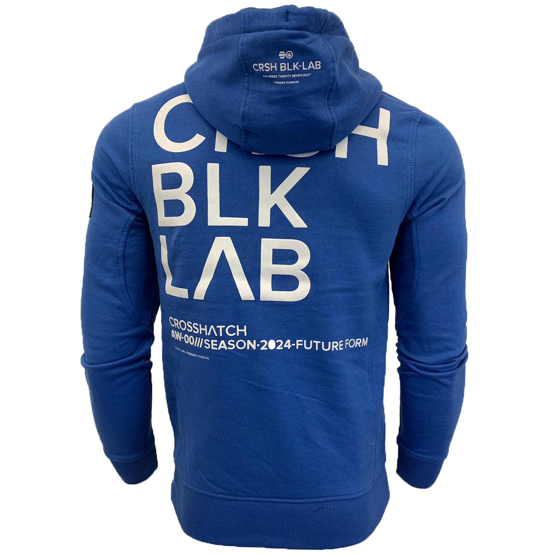 Mens-Sweatshirt-Crosshatch-Over-The-Head-Branded-Hoodie-Top-Fleece-Lined-New thumbnail 5