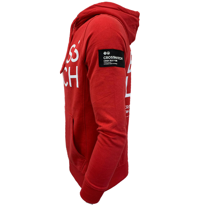 Mens-Sweatshirt-Crosshatch-Over-The-Head-Branded-Hoodie-Top-Fleece-Lined-New thumbnail 14