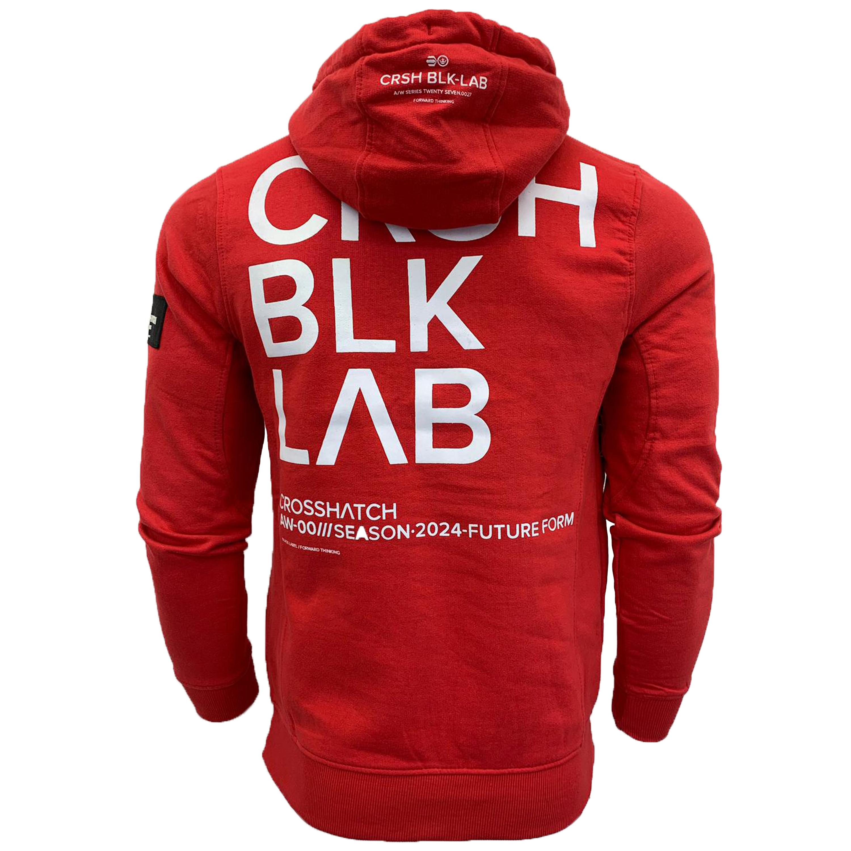 Mens-Sweatshirt-Crosshatch-Over-The-Head-Branded-Hoodie-Top-Fleece-Lined-New thumbnail 15