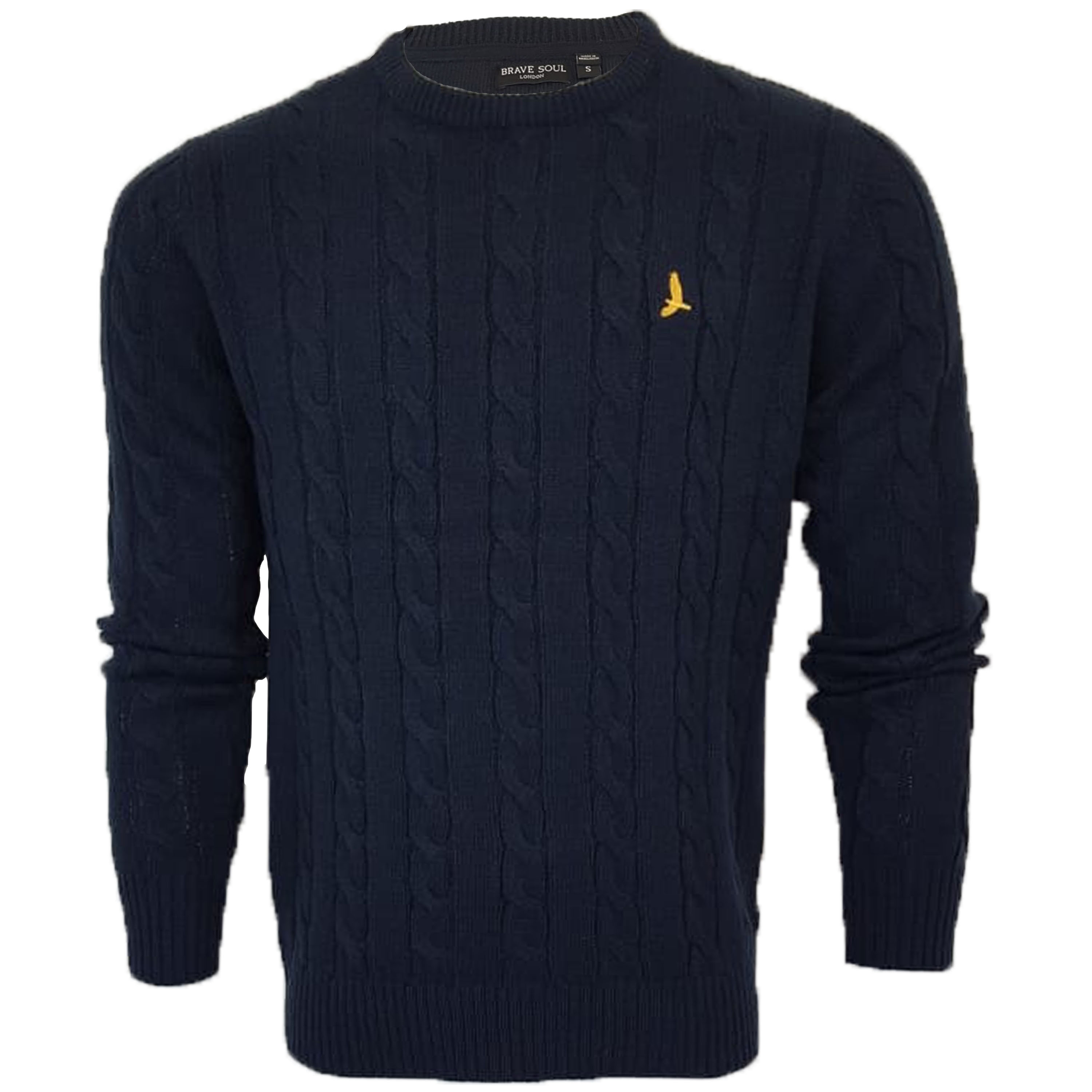 Mens-Jumper-Brave-Soul-Knitted-Sweater-Pullover-GOODWIN-Crew-Neck-Top-Winter-New thumbnail 11