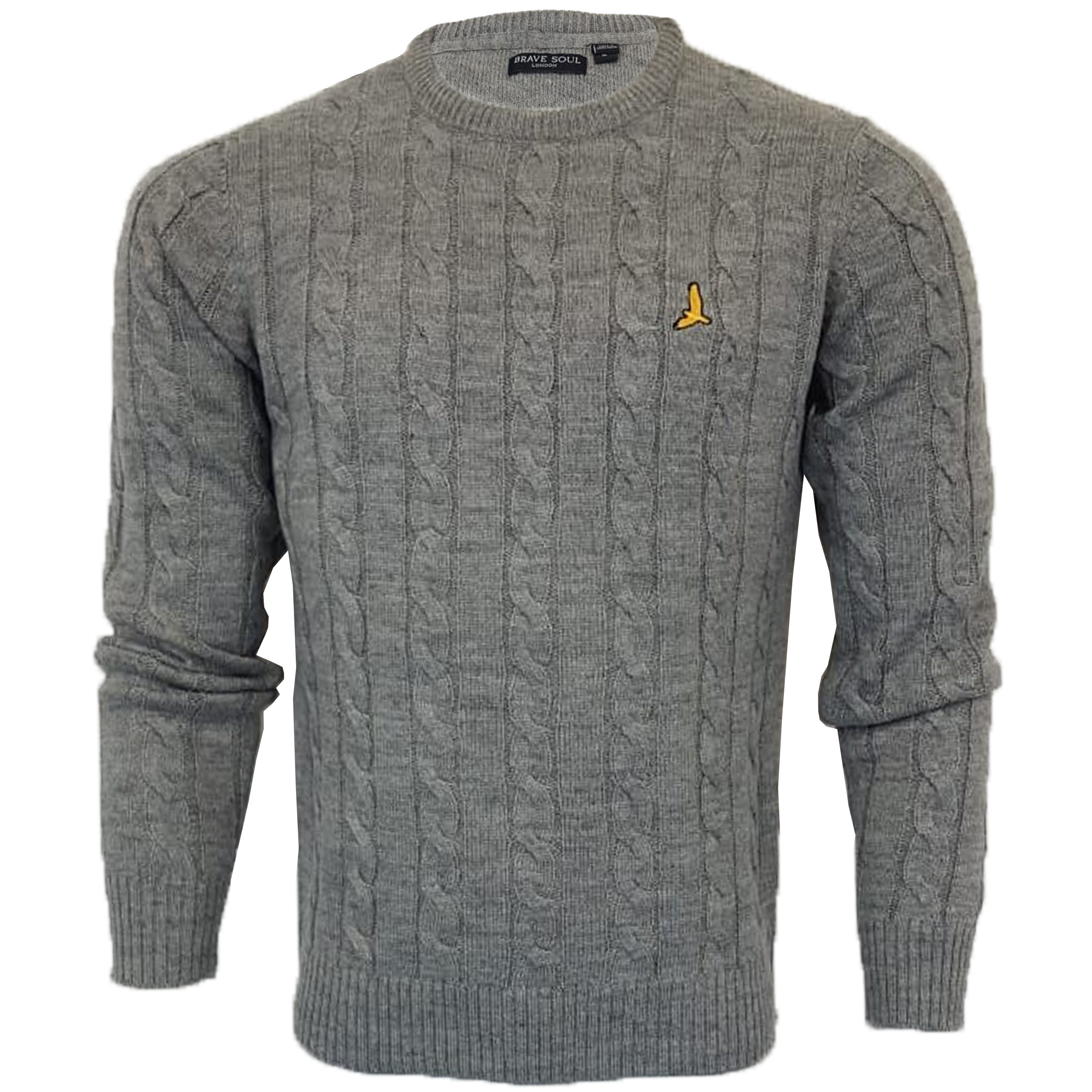 Mens-Jumper-Brave-Soul-Knitted-Sweater-Pullover-GOODWIN-Crew-Neck-Top-Winter-New thumbnail 5
