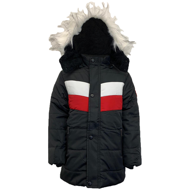 Cappotto-Parka-Ragazzi-Bambini-Scuola-Imbottito-BUBBLE-trapuntato-con-cappuccio-nuova-moda miniatura 3