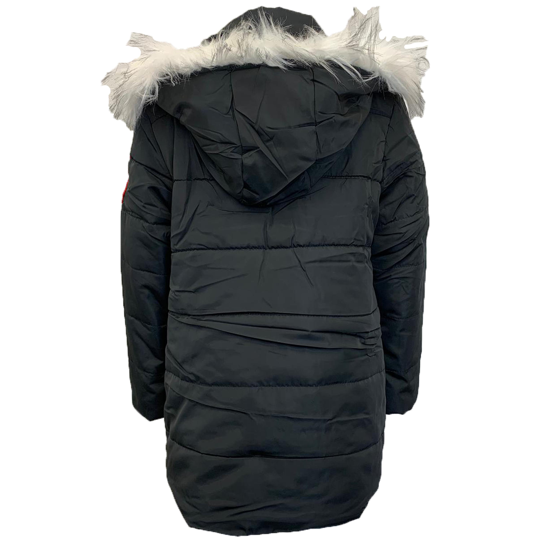 Cappotto-Parka-Ragazzi-Bambini-Scuola-Imbottito-BUBBLE-trapuntato-con-cappuccio-nuova-moda miniatura 5