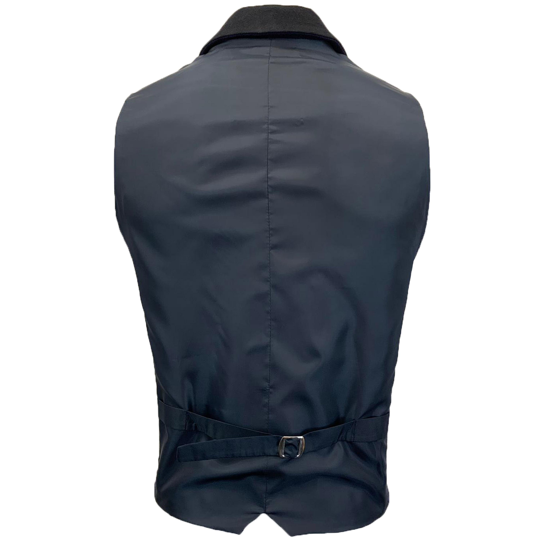Mens-Waistcoat-Wool-Mix-Cavani-Formal-Vest-Herringbone-Tweed-Check-Party-Smart thumbnail 6